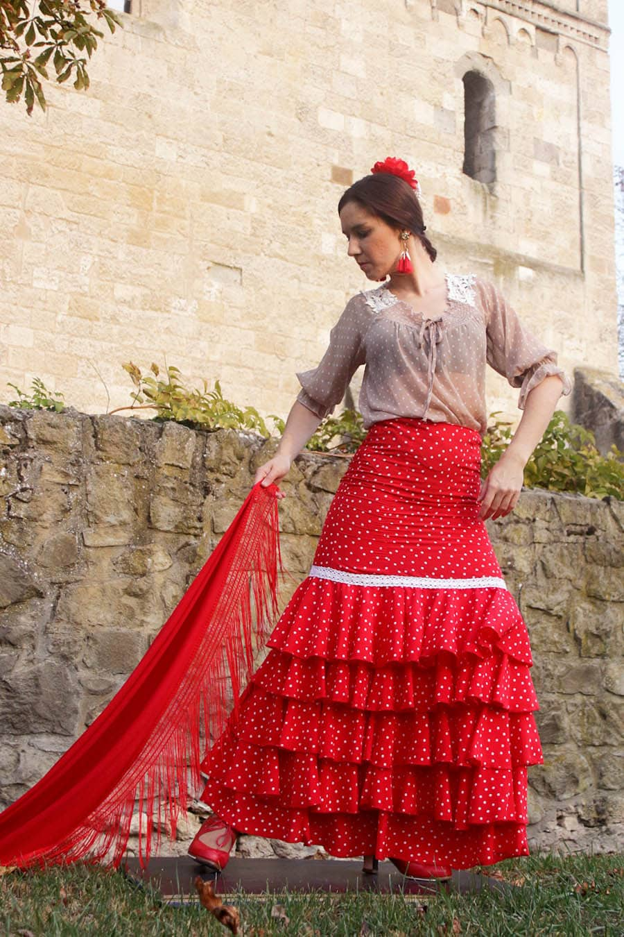 Product Alegria Skirt from the unique and conscious flamenco collection Brisa - one of our eye-catching flamenco skirt