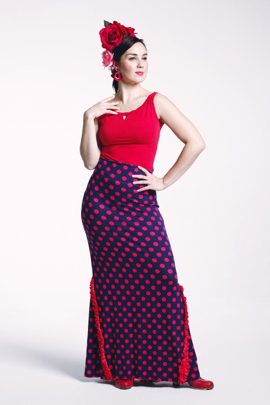Flamenco skirt polka dot print