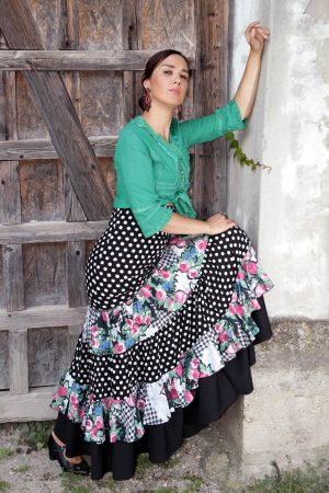 Product Monica Skirt from the unique and conscious flamenco collection Brisa - a classic flamenco skirt
