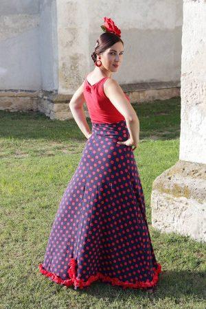 Falda flamenca con lunares para baile